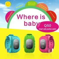 Best wrist watch gps tracking device for kids Q50 with two way communication wholesale