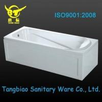 Quality High Quality square shape acrylic BATHTUB with apron and frame,small acrylic BATHTUB from China for sale