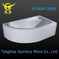 Quality 1700mm left hand apron bathtub,corner acrylic bathtub,adult bathtub for sale