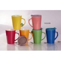 M023B Eco- Friendly porcelain coffee cup,ceramic cup + lid