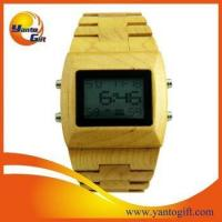 Quality 100% Nature Quartz Digital wooden watch for sale