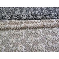 Quality Floral Brushed Elastic Lace Fabric Ivory Stretchable AZO Free Dyeing CY-LW0652 for sale