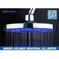 Quality Hotel SPA Ceiling Mounted Rain Shower Heads Overhead , Blue Led Shower Head for sale