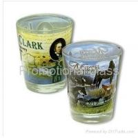 Quality printed glass cup&mug sublimation shot glass for sale