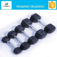 Quality FQ2001 hex rubber coated dumbbell for sale