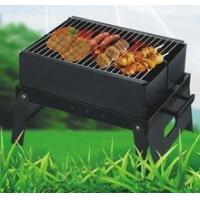 China Portable green/health heat-resistant painted bbq charcoal grill on sale