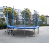 Quality 12FT Family Gardon Amuement Round Spring Trampoline With Net Inside (6 Leg - 12 Pole) for sale