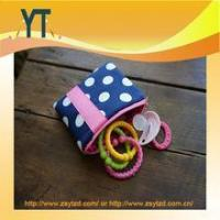 Quality Blue And Pink Polka Dot Baby Pacifier Bag,Baby Pacifier Clip,Baby Pacifier Holder for sale