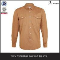 Quality Tan Long Sleeve Casual Shirt for sale