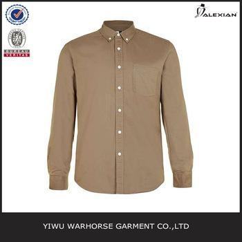 Buy Walnut Brown Oxford Long Sleeve Casual Shirt at wholesale prices