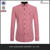 Quality Men stripe embroidery slim fit dress shirt for sale