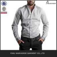 OEM latest design solid color blank cotton loose men trendy casual shirt