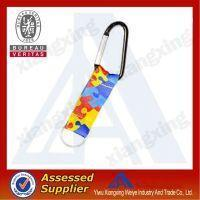 Eco-friendly Fashionable Silk Screen Short Lanyard With Carabiner Hook