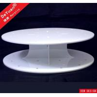 Quality Round Cake Stand White Cupcake Stand / Round Display Stands Wedding Party Decorating for sale