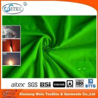 10.3oz fire resistant green knitted fabric for protective jacket