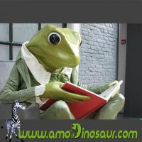 Quality The desinger of cartoon mascots big size frogman with sit down pose for sale