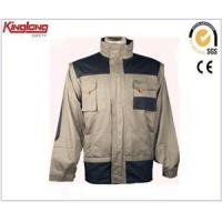 Quality Black and light grey mens high quality workwear clothing,Hot sale work jacket china supplier for sale