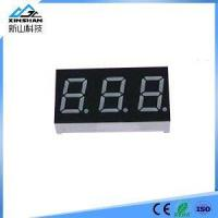China 7 Segment Common Cathode 3 Bit Digital Tube 0.8 inch Red LED Display 7 Segment LED on sale
