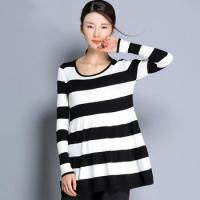 China 2016 new design striped wool sweater factory fashion women knitted wool sweaters on sale