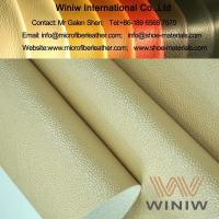 China Luxury PU Faux Leather Vinyl Upholstery Leather on sale