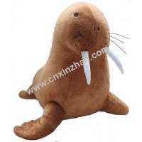 Quality Walrus Plush Stuffed Soft Toys Brothers Brown Grey Colors Grovel Customized for sale