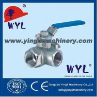Buy cheap stainless steel screwed three-way ball valve SS Valves from wholesalers