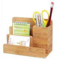 Quality bamboo desk holder and organizer for sale