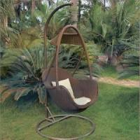 Quality GSD-OH3012 garden PE rattan hammock chair furniture for sale