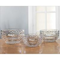 Bowls 24% Lead Crystal Bowls Custom Engraved with Intricate Design - Kelly