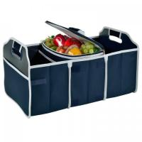 Quality Original Folding Trunk Organizer with Cooler by Picnic at Ascot - Navy for sale