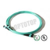 Best Green MM OM4 MPO Breakout Cable Male To Female , Length Customized wholesale