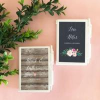 Personalized Floral Garden Notebook Favors