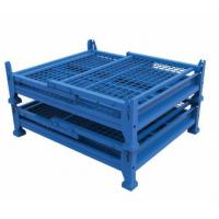 Best Foldable steel collapsible metal wire mesh container warehouse storage cages wholesale