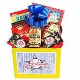 Quality All Star Mens Gift Basket with Puzzle Books and Snacks for sale