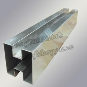 China Pipe & Tubing Stainless Steel Double Slot Square Tube/pipe (A554)