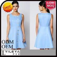 Buy cheap Dress square-cut collar the fan put metal button diamond dress from wholesalers