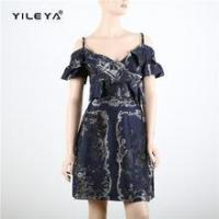 Buy cheap Dress off shoulder striped beautiful lady fashion dress from wholesalers