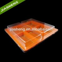 Quality Disposable 4 Sections Plastic Tray with Clear Lid for Fast Food for sale