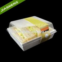 Quality Plastic Rectangular Food Containers/Serving Trays with Clear Lid for Sandwich Takeaway for sale