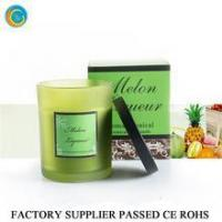 Glass candle container with black cap