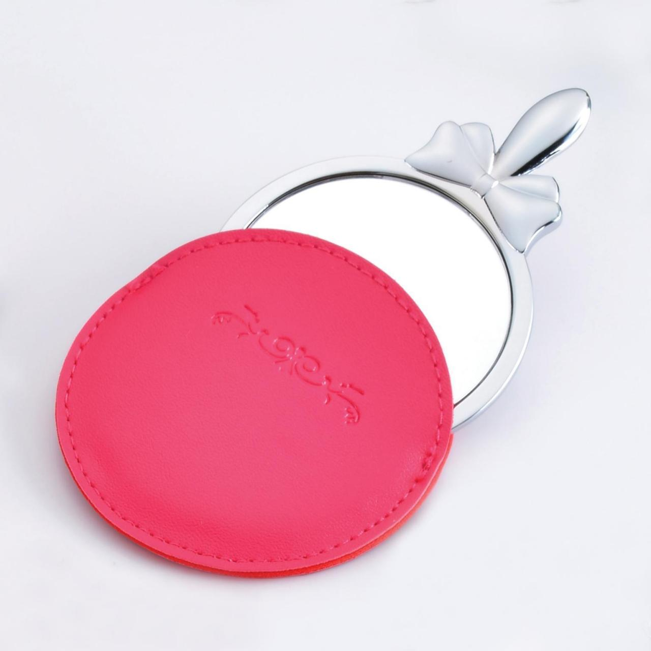 Cosmetic Mirror with leather case