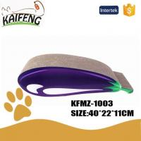 China KFMZ-1003 Hot Sale Eggplant Shape Cat Scratcher Cat Lounge Bed on sale