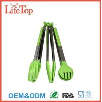 Quality Silicone and Stainless Steel Flipper Tongs Salad Tong Food Tong for sale