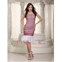 Quality 2014 Cheap Red Lace Prom Dress With Mermaid Skirt Design Luxury for sale