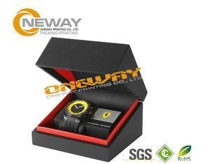 Buy Customized Men'S Style Watch Packaging Box With Hot Stamping Gold Logo at wholesale prices