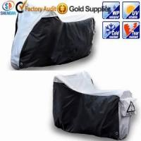 Quality 210D silver waterproof motorcycle cover for sale