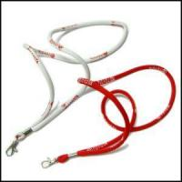 Quality Round High Elastic Cord Woven Logo Lanyards for sale