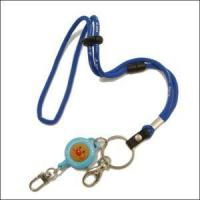 Quality Wholesales China Round Jacquard Cord Lanyard with Cartoon Retractable Reels for sale