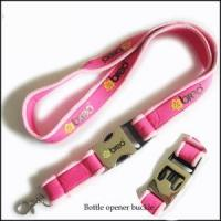 Quality Comfortable Serging Stitch Neoprene Lanyards with Custom Quick Buckle for sale