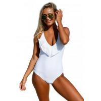 Quality White Lace Ruffle One Piece Swimsuit LC410220-1 for sale